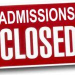 admissions-closed