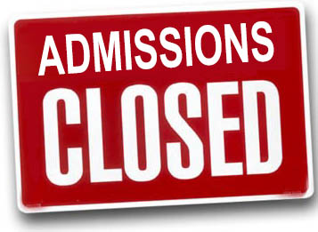 Admissions Closed